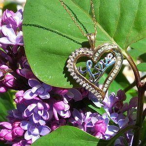 10K Gold & Diamond Love Pendant